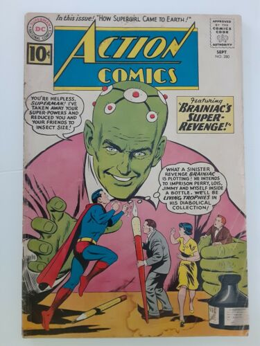 Action Comics #280 GD+ 2.5 Brainiac!  Silver Age DC Superman 1961