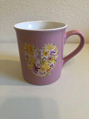 Love Your Mug Brand Pink Heart Flowers Mom Coffee Tea Cup, Gift Idea For Mothers - Mothers Gift Ideas