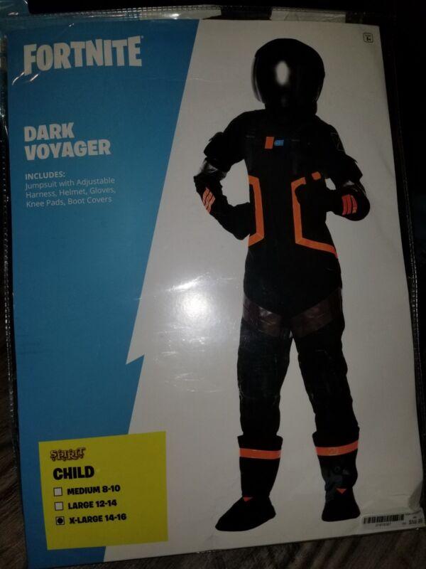 Fortnite Dark Voyager Halloween Costume Kids Child Xl 14 16