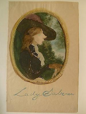 Aquarell Salz (Lady Salzmann, Alexander Gustav von Salzmann, Original Aquarell, )
