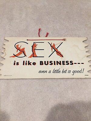 Vintage Sex Is Like Business Banner Sign Adult Novelty Humor Wall Decor Mancave