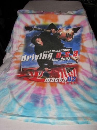Tie Dye Paul McCartney USA Driving Tour 2002 T-Shirt Size XL