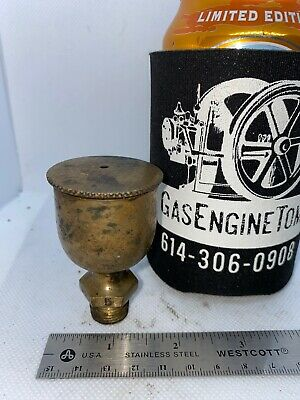 Brass Screw Top No 5 Grease Cup Hit Miss Gas Engine Steam Antique 1 12 D
