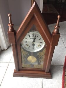 Vintage Carillon mantle or wall wind up steeple clock.