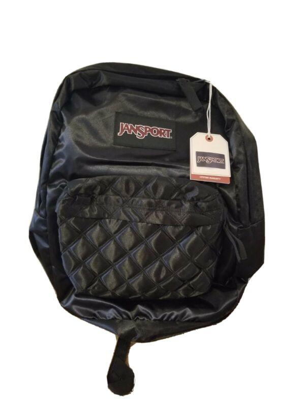 JanSport Backpack Black Diamond Quilted