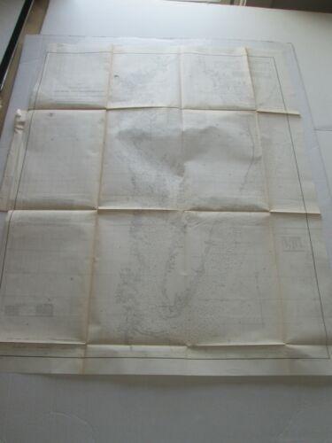 "(1) 1855 U. S. COAST SURVEY CHART: ""DELAWARE AND CHESAPEAKE BAYS & SEACOAST"""