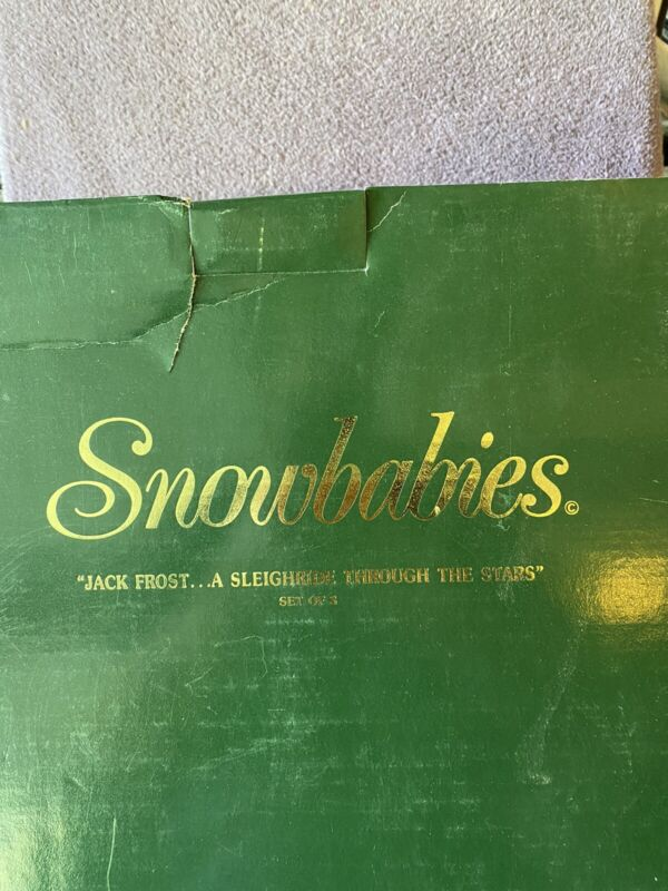 VERY LARGE SNOWBABIES (JACK FROST A SLEIGH RIDE THROUGH THE STARS) SET OF 3