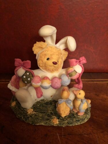 """Cherished Teddies Alicia Teddy Bear Dressed for Easter- Resin 4.50"""""""