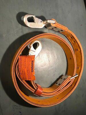 Bashlin 78-c 7 Utility Pole Lineman Climbing Safety Tool Belt Lanyard Strap