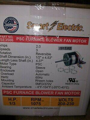 Smart Electric 356 Psc Furnace Blower Fan Motor