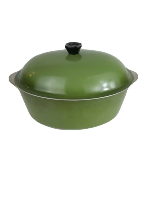 Club Aluminum Large Oval Green 6 Qt Roaster Pan with Lid