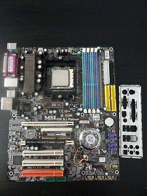 MSI K8N SLI Platinum + AMD Athlon 64 3500+ 2.2GHz + I/O Shield - Socket 939
