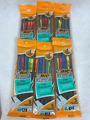 Bic Xtra Precision Fine Point Mechanical Pencils 0.5mm 5 Ea Pack Of 6