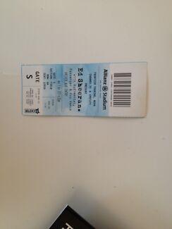 Ed sheeran ticket  Brighton-le-sands Rockdale Area Preview
