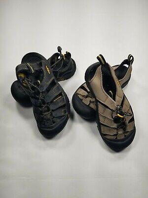 Keen Big Kids Newport H2  Waterproof Sandals Lot(2) Size Black Beige Shoes