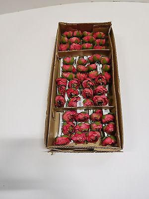 48 x Ranunkel Pick 48tlg Set Seidenblume Kunstblume 23 cm rose rosa 30346-10 F62