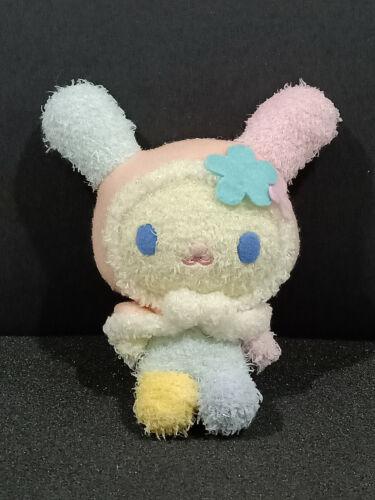 "Sanrio Usahana Rabbit Winter Hood Glittering Plush Mascot Doll Toy Japan 7"""