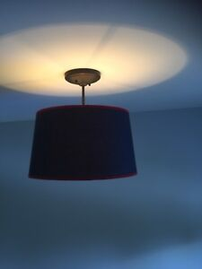 Blue and red ceiling light fixture