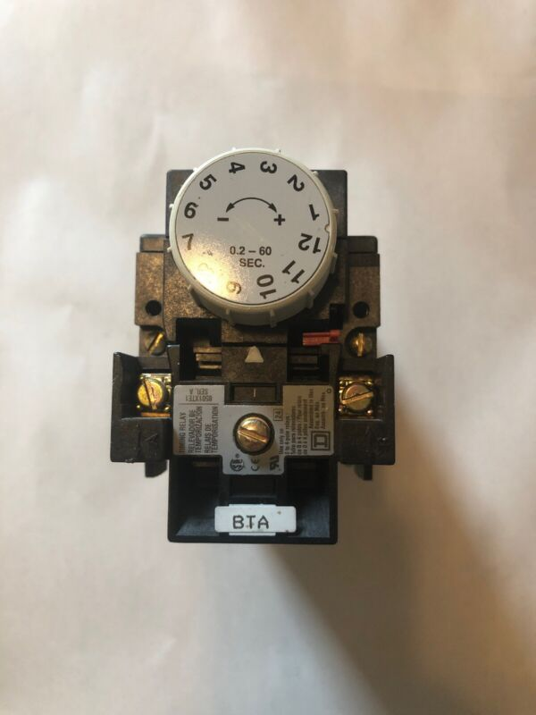 Square D, 8501XTE1 W/ 8501X040 Timing Relay