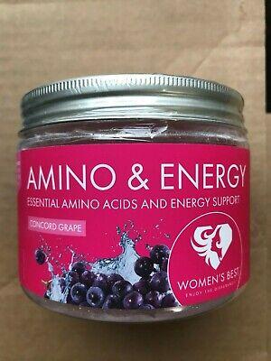 Women's Best Amino & Energy Powder Supplement BCAA PreWorkout Drink Grape