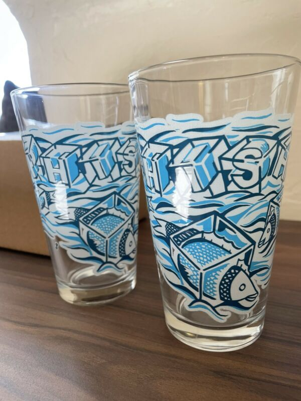 Phish Jim Pollock Sold Out Pint Ice Cube Glasses Set of 2  - FREE SHIPPING