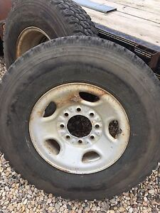 """16"""" Chevy 2500 wheels/tires"""