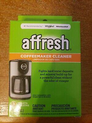 AFFRESH Coffeemaker Cleaner Water Deposits Mineral Build Up 3 Tablets Keurig NEW
