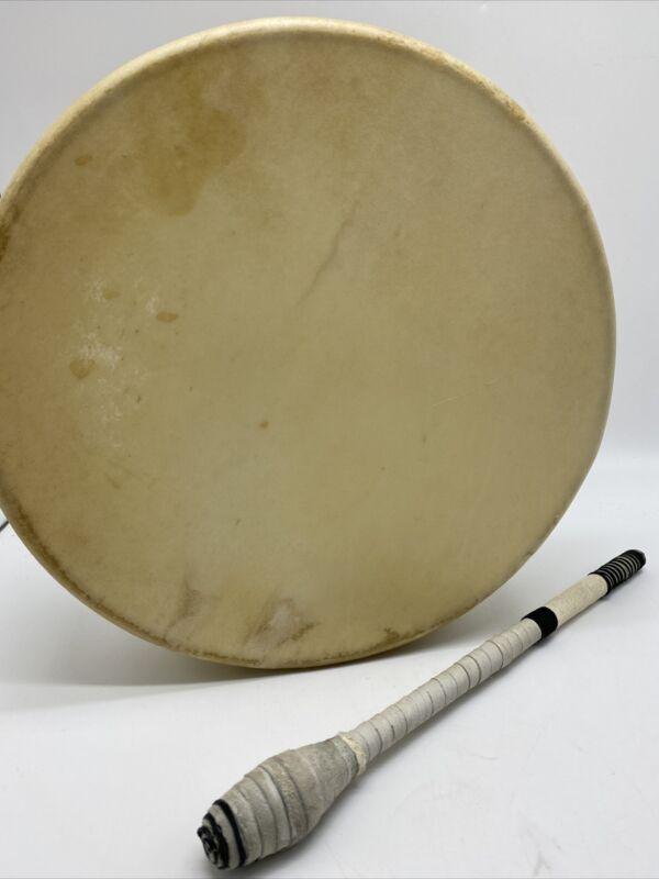 Native American Stretched Rawhide Hoop Drum Stick