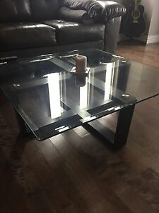 Two glass tables for sale!