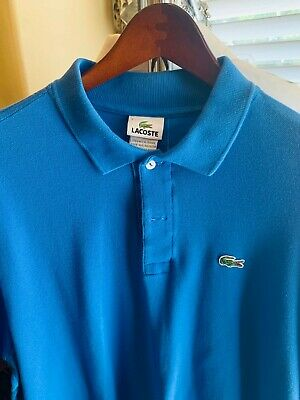 Lot of 3 Lacoste Mens Shirt Size 7 XL Button Up Polo Top w/ Gator Logo