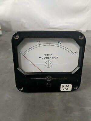 Percent Modulation Meter 0-30