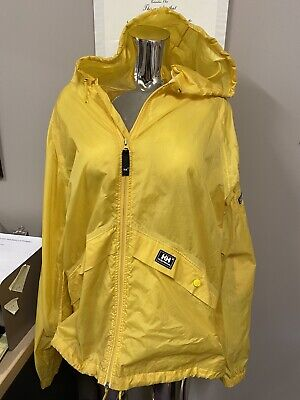 HELLY HANSEN YELLOW OUTER SHELL WINDBREAKER JACKET (Large)