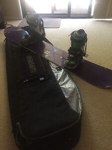 Burton hero snowboard with ride bindings New Lambton Newcastle Area Preview