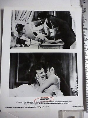 Vintage Glossy Press Photo Colin Firth Annette Bening Meg Tilly  Valmont  1989