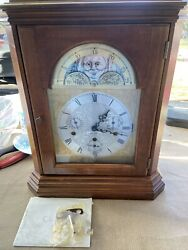 Seth Thomas cherry wood Mantel clock # 1331-001 German made working condition