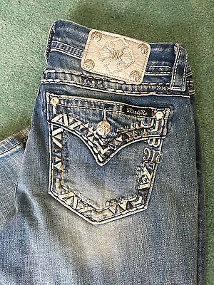 New Miss Me Jeans Size 27 X 31 Signature Straight  Je8378t2r  Retail   104