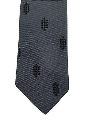 1960s – 70s Men's Ties | Skinny Ties, Slim Ties Vintage Mens Superba Gray Black Thin Shields Crests 100% Dacron Tie 52