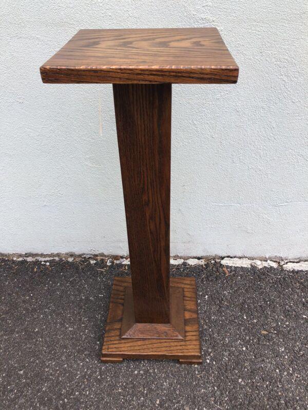 """Antique Chestnut Pedestal 36"""" X 12"""" X 12"""""""