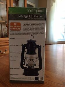 North point dark blue Vintage Led Lantern