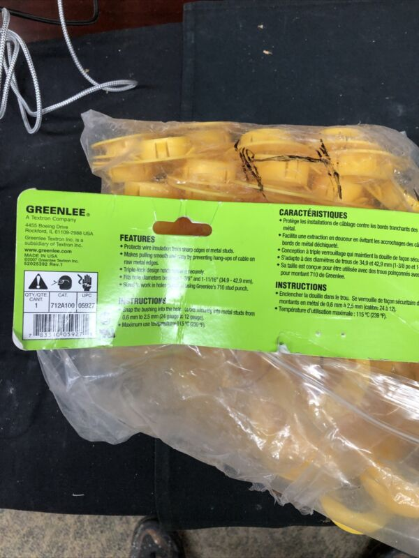 160-greenlee 712a100 Bushing,two Package One Of New 100 And Other Of 60