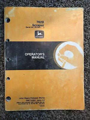 John Deere 762b Scraper Operator Owner User Guide Manual Omt150801