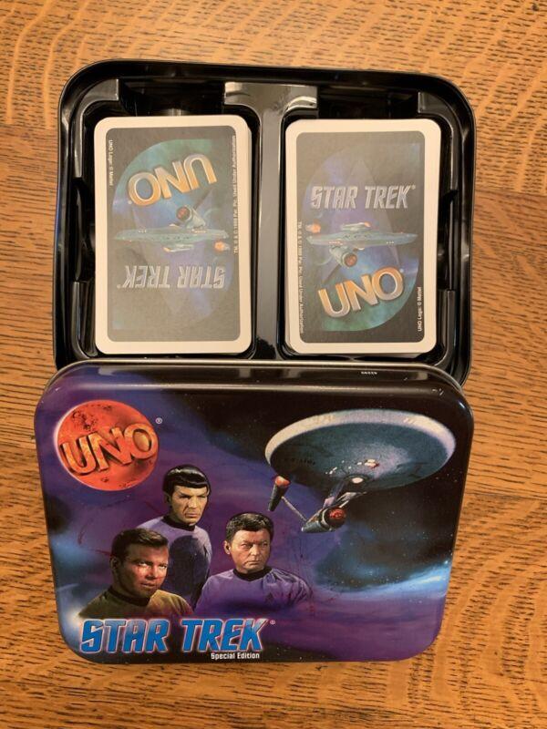 Star Trek Uno 1999 With Collectors Tin