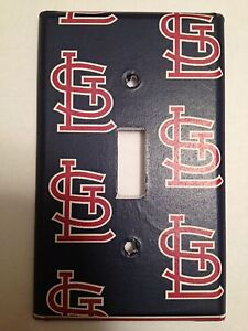 st louis cardinals light switch covers baseball mlb home. Black Bedroom Furniture Sets. Home Design Ideas