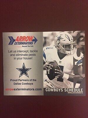 Dallas Cowboys 1 Official Pocket 2017 NFL Schedule DAK PRESCOTT