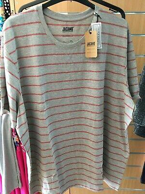 JACAMO Mens striped T- Shirt striped    LONG  3xl   bnip