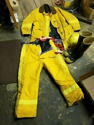 Globe Firefighter Police - Jacket Trousers Boots Helmet Gear  Yellow