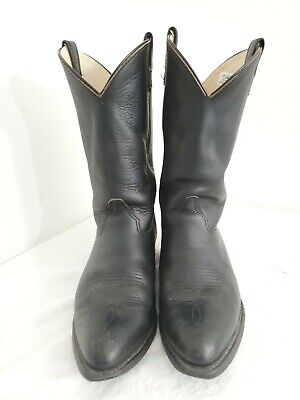 Double-H Boot 3202 Men Black Leather Western Classic Cowboy Boots Size 11.5 EE