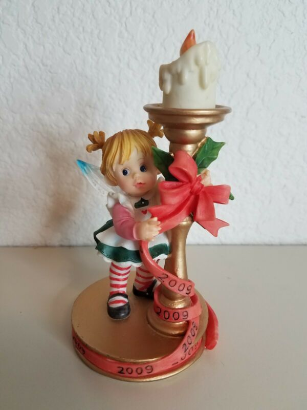 2009 My Little Kitchen Fairies Christmas Candle Enesco 4014791 No Box