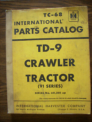 Ih Farmall Mccormick International Td9 91 Series Crawler Parts Manual
