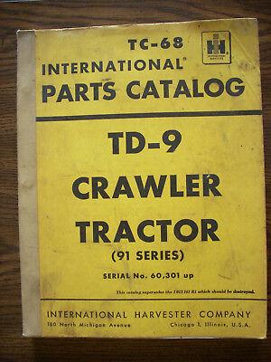 Ih Farmall Mccormick International Td9 91 Series Crawler Parts Manual
